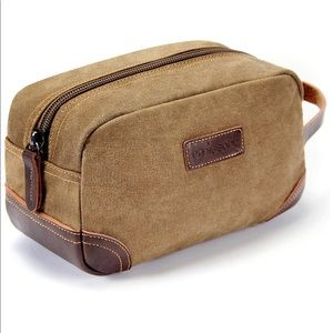 NWT Toiletry Bag - Canvas and Leather
